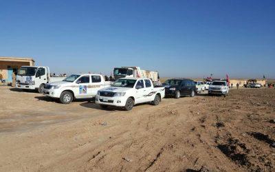 جامعة واسط تسير قافلة مساعدات لقواتنا الأمنية والحشد الشعبي في محافظة نينوى