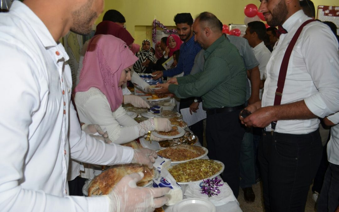حملة تبرع لدعم ايتام شهداء الحشد الشعبي في كلية التربية الاساسية بجامعة واسط