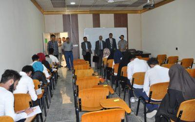 لجنة وزارية تطلع على سير الامتحانات النهائية  في جامعة  واسط