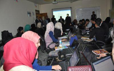 لجنة متابعة الاستحداث الوزارية تزور كلية التربية وكلية الفنون الجميلة