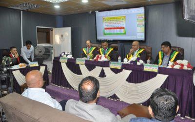 كلية التربية للعلوم الإنسانية تناقش رسالة ماجستيرعن التباين المكاني لحجم الأسرة في محافظة واسط
