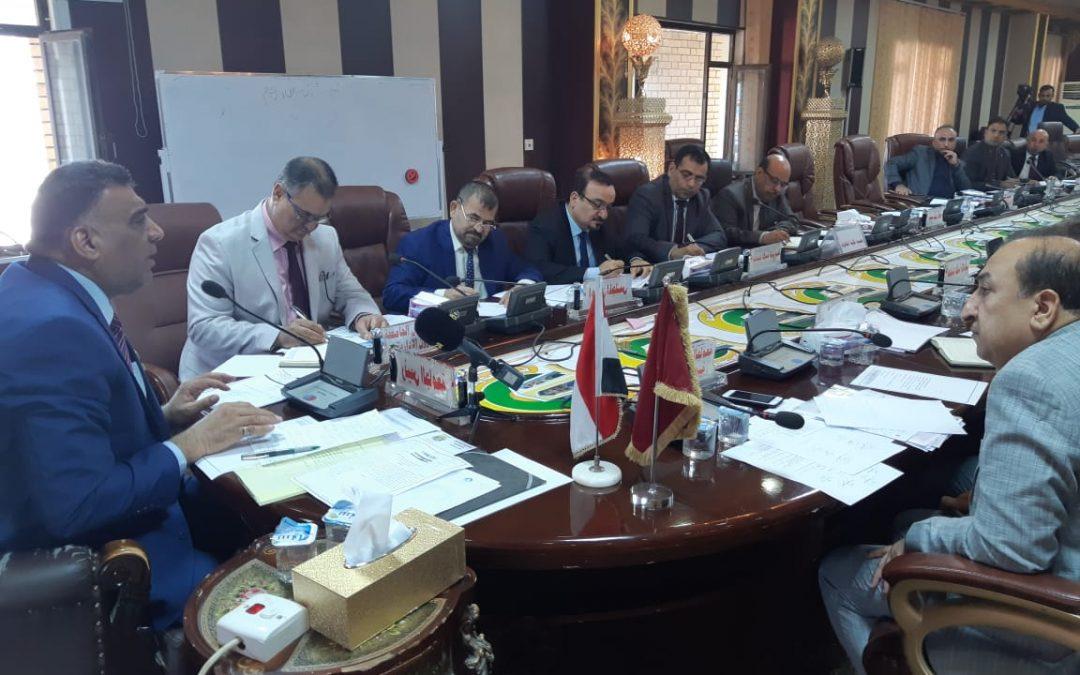 مجلس جامعة واسط يعقد جلسته الاعتيادية السادسة للعام الدراسي 2018/  2019