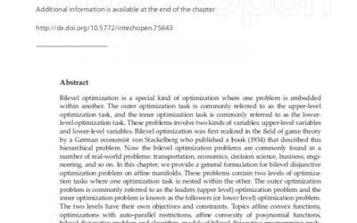 باحث من جامعة واسط ينشر فصل علمي عن ثنائي التحسين المنفصل على المشبكات في كتاب الخوارزمبات (Optimization Alqorithms Examples) في مؤسسة Intech open بدولة كرواتيا.