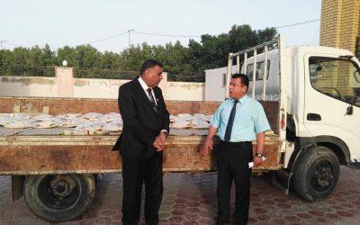 رئيس جامعة واسط يقيم مأدبة إفطار لطلبة الأقسام الداخلية في الجامعة