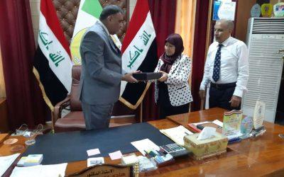 رئيس جامعة واسط يستقبل تدريسيين من معهد الهندسة الوراثية جامعة بغداد