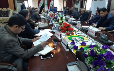 مجلس جامعة واسط يعقد جلسته الاعتيادية الثانية عشر للعام الدراسي 2018/2019