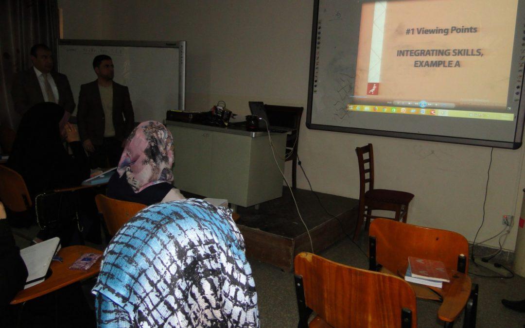 كلية التربية للعلوم الإنسانية تقيم ورشة عمل عن كيفية تدريس مهارات اللغة الانكليزية الأربعة