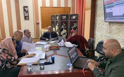 لجنة البرنامج الحكومي في جامعة واسط تعقد اجتماعها السادس لمناقشة نسب الانجاز